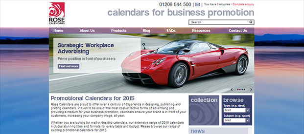 Rose Calendars Website