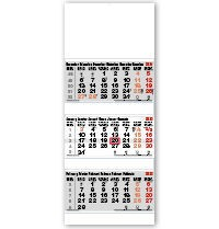 Mega-Tri Pad Shipping Calendar - Red and Black