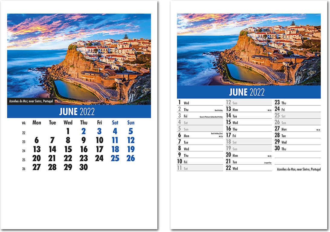 Destinations Mini Desk Calendar