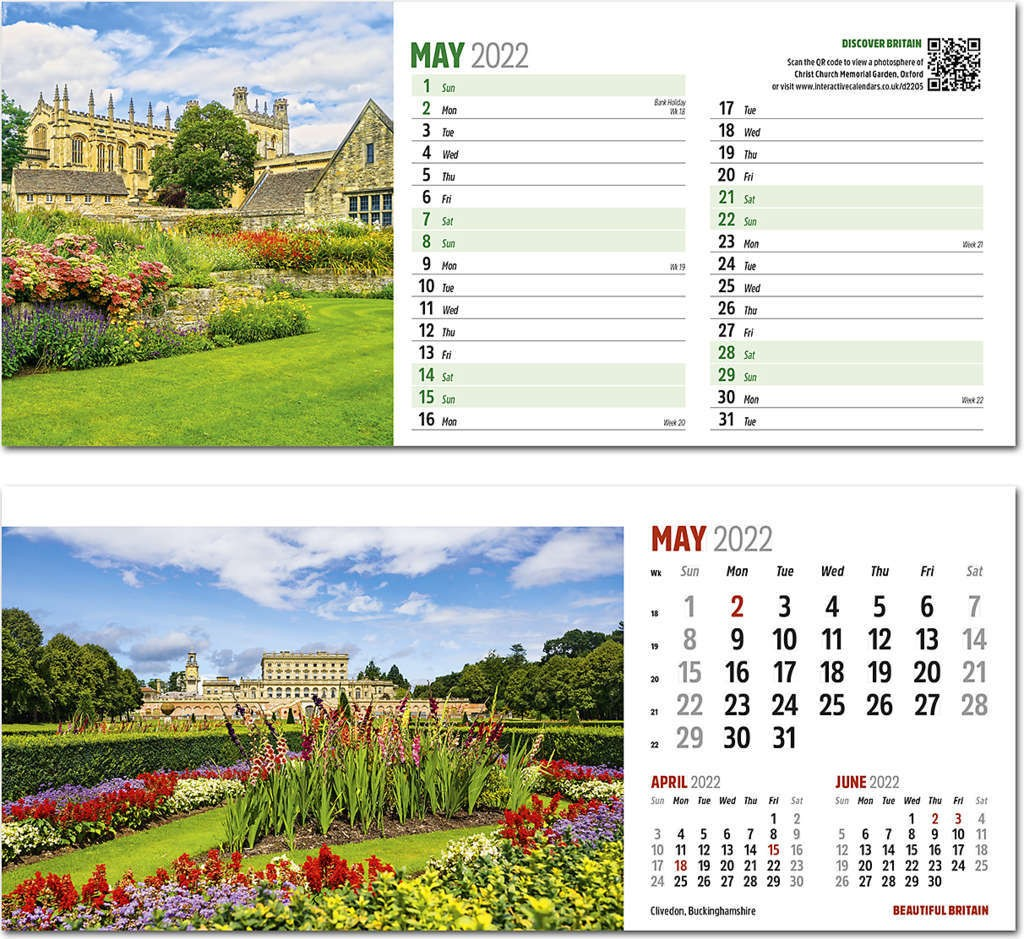 Discover Beautiful Britain Desk Calendar