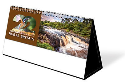 Rural Britain Premium Lined Easel Desk Calendar