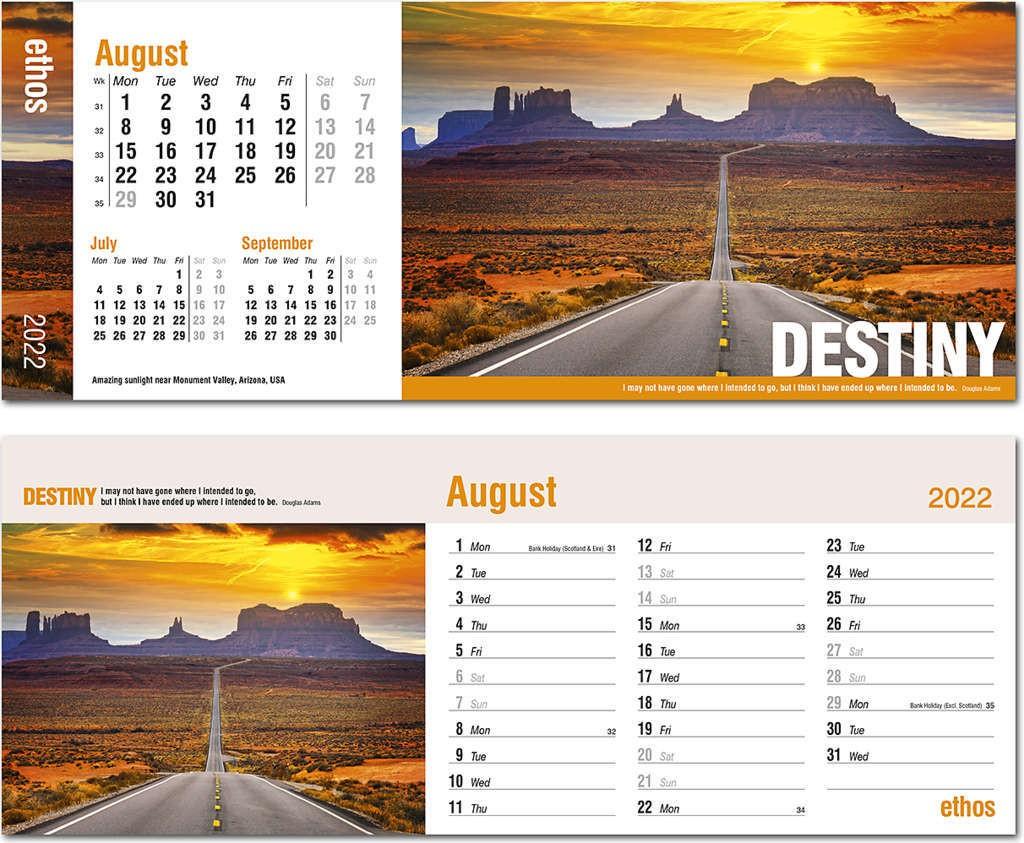 Ethos Desk Calendar 2022 Rose Calendars