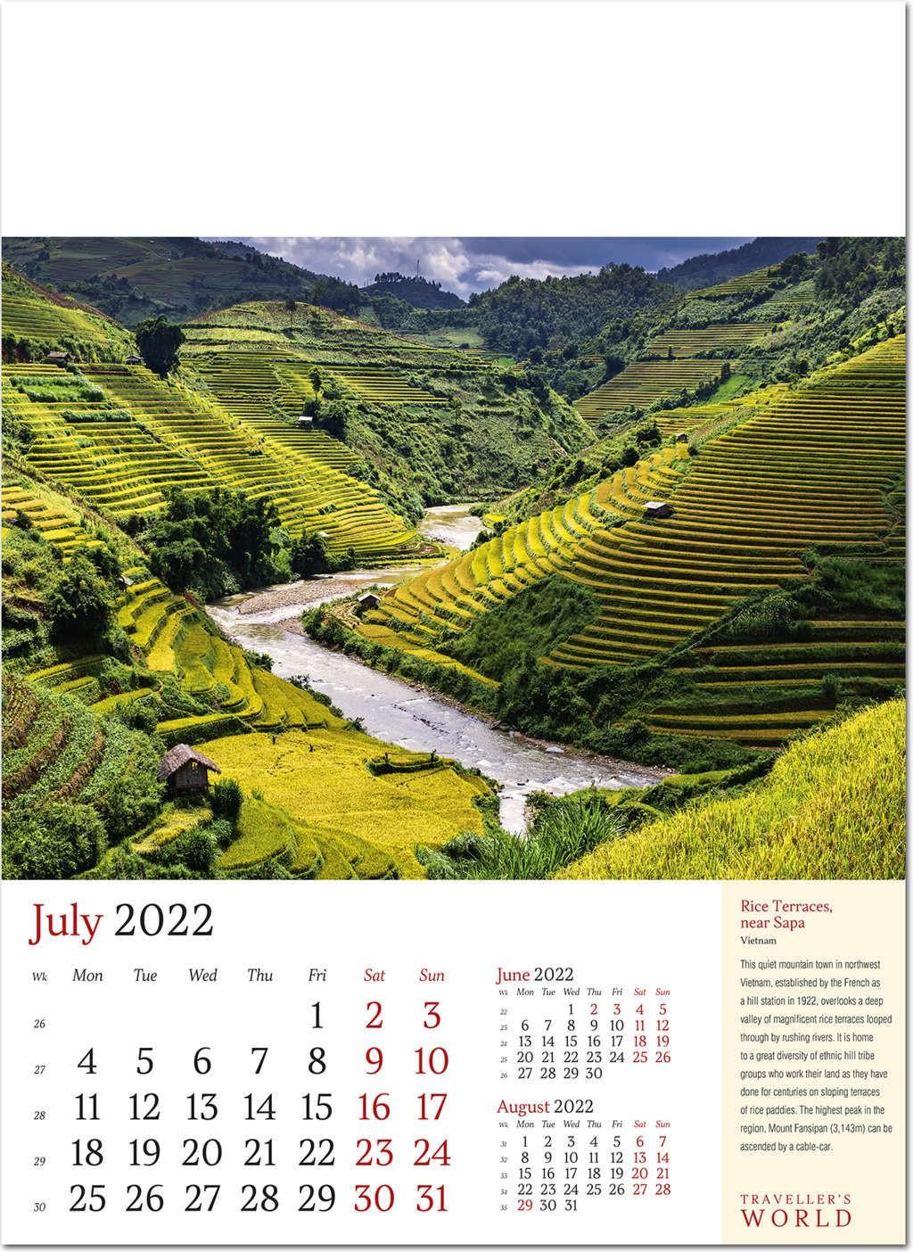 Rice Fall 2022 Calendar.Traveller S World Calendar 2022 Rose Calendars