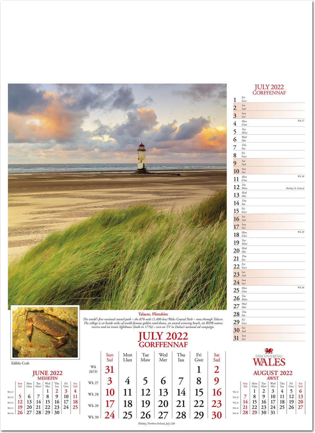 Discovering Wales Calendar