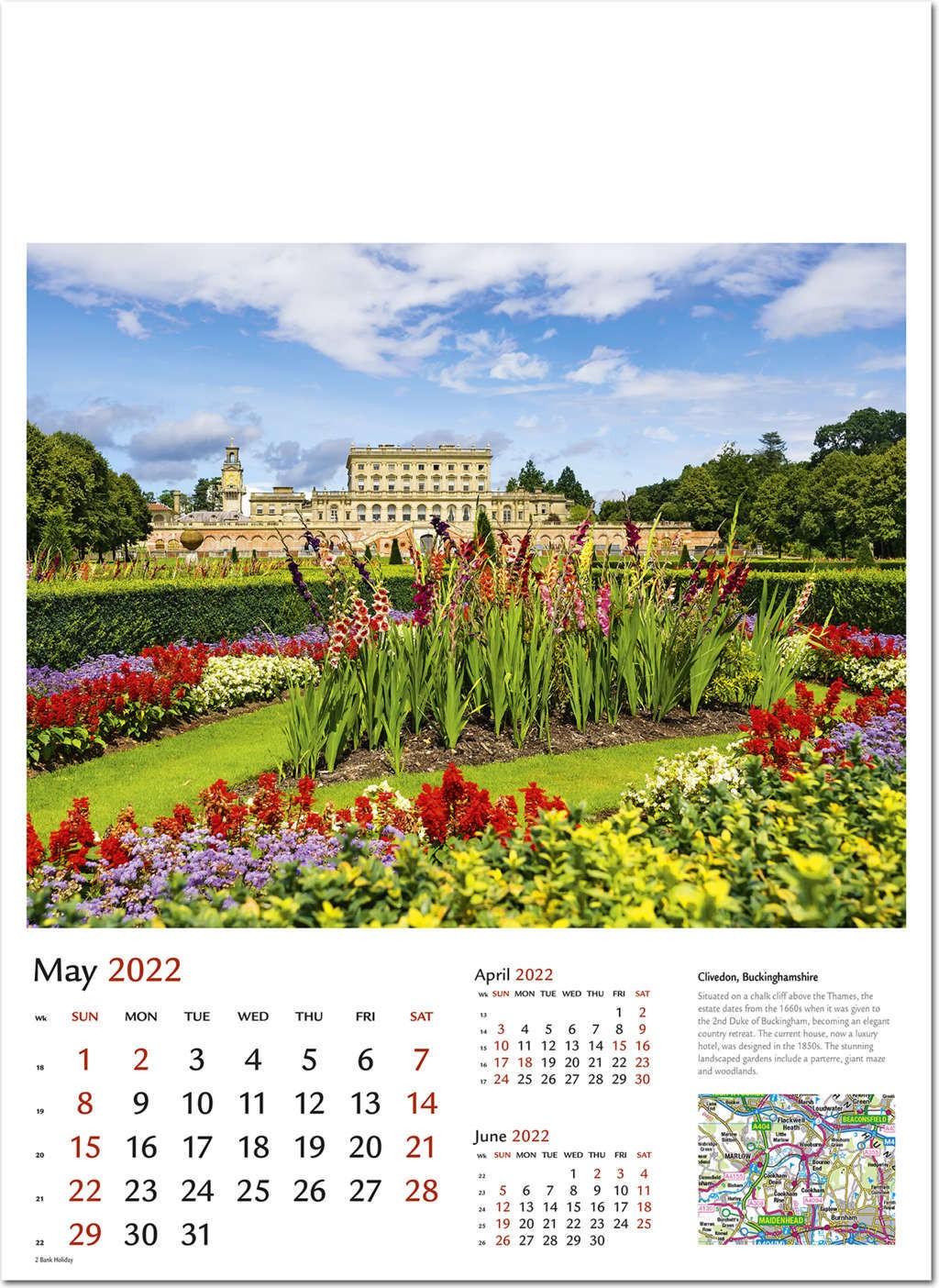 Duke 2022 Calendar.Beautiful Britain Wall Calendar 2022 Rose Calendars
