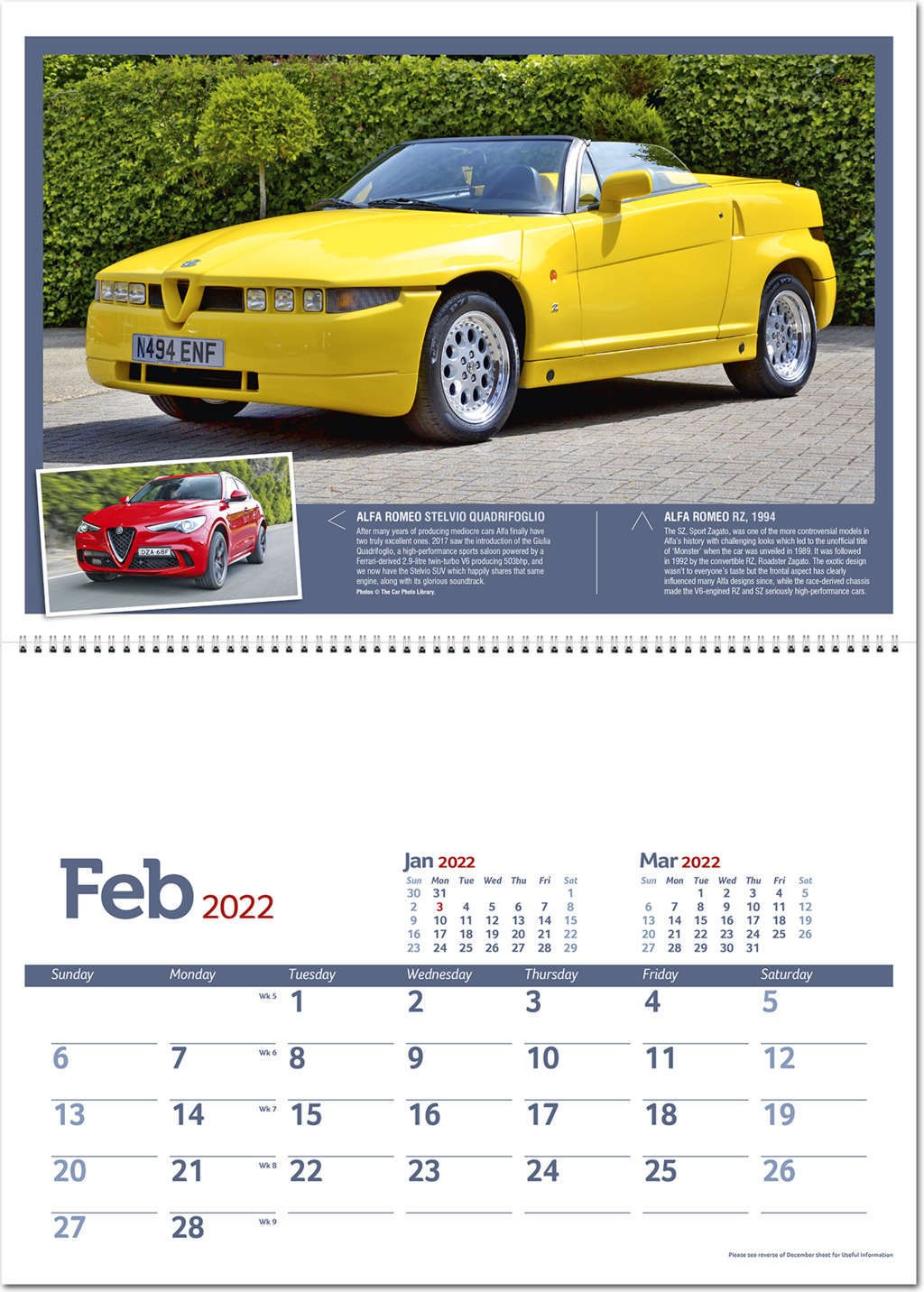 Classic Marques Past and Present Postage Saver Calendar