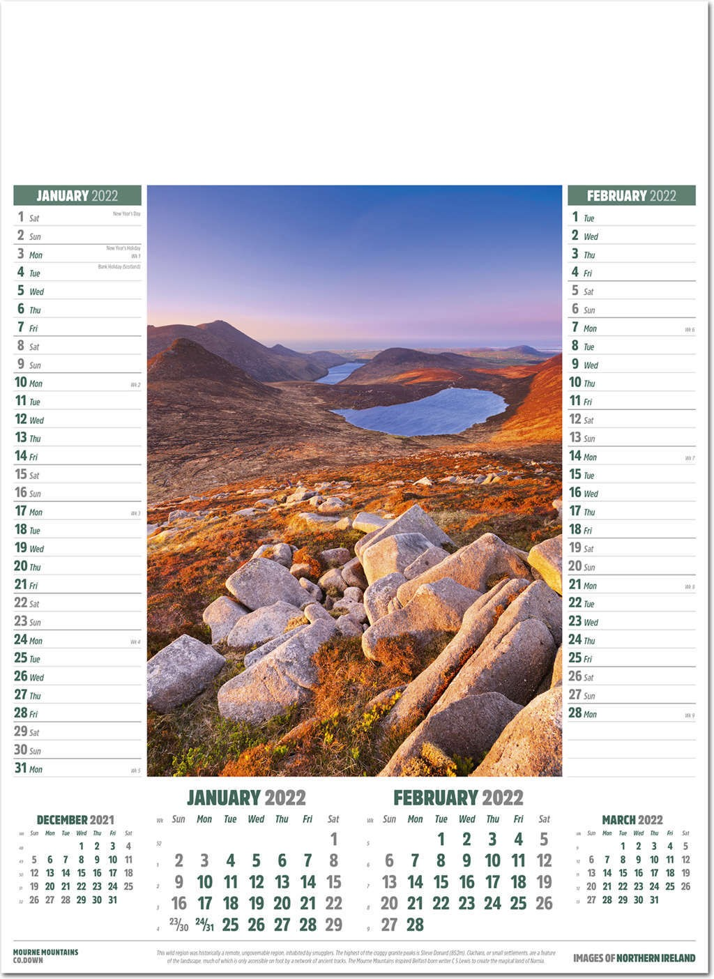 Images of Northern Ireland Calendar
