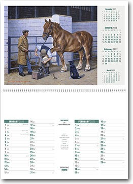 The Working Horse Postage Saver Calendar