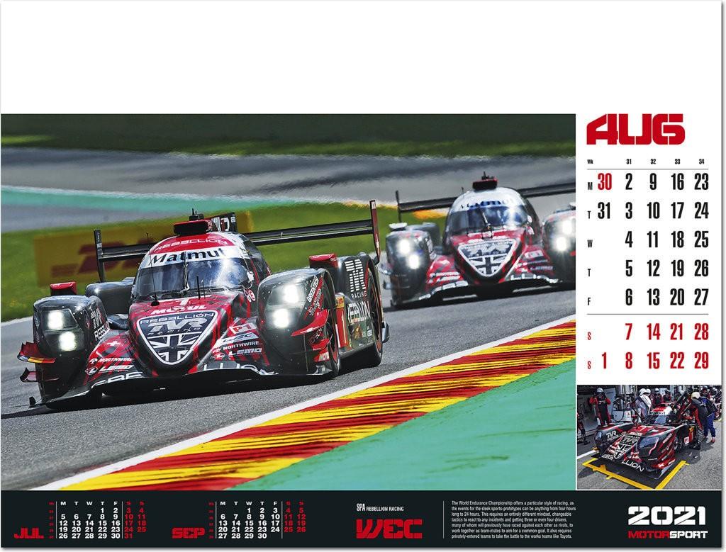 Motorsport Calendar 2021   Rose Calendars