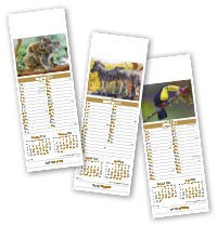 Slimline World Wildlife Calendar