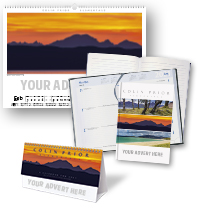 Colin Prior Elementals Calendar and Notebook/Diary Set