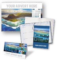 Deep Blue Calendar and Notebook/Diary Set